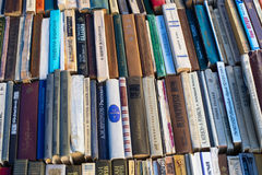 Old soviet books on second hand bookstalls Stock Photography