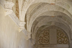 Row of old ceiling arches. In Oaxaca museum, Mexico Stock Photography