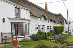 Row of old cottages UK Stock Image