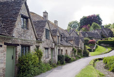 Row of Old English Country Cottages Royalty Free Stock Photo