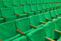 Row of old green seats Royalty Free Stock Photography