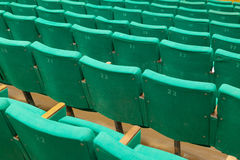 Row of old green seats Royalty Free Stock Images
