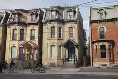 Row of old house, Toronto, Canada Royalty Free Stock Image