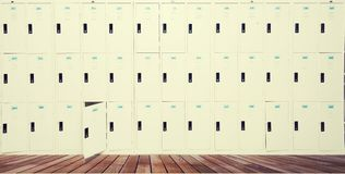 Row Of Old Lockers In School royalty free stock images