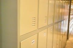 Row Of Old Lockers In School Hallway Royalty Free Stock Photos