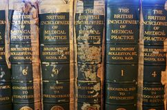 Old medical books royalty free stock photo