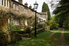Old cottages far from the madding crowd royalty free stock photos