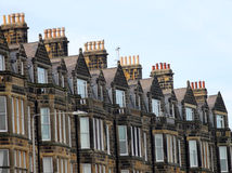 Row of old Victorian town houses Stock Images