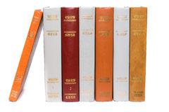 Row of old vintage books Royalty Free Stock Photography