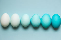 Row of ombre Easter eggs Royalty Free Stock Photo