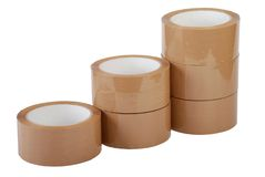 Row of packing tape Stock Image