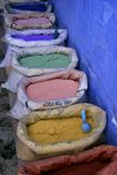 Row of paint powders Stock Photography