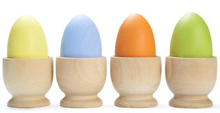 Row of Painted Easter Eggs Royalty Free Stock Photos