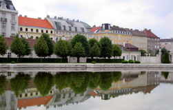 Row of palaces. Row of nobility palaces in Vienna, Austria Royalty Free Stock Photography