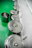Row of pans Royalty Free Stock Photo