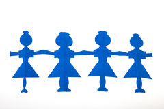Row of paper dolls Royalty Free Stock Photography