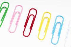 Row Of Paperclips Royalty Free Stock Photos
