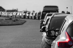Row of parked cars Royalty Free Stock Image