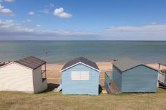 Row of pastel beach huts Stock Image
