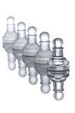 A row of pawns. With their reflection Royalty Free Stock Photos