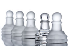 A row of pawns Royalty Free Stock Photos