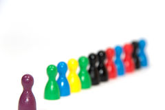 Row of pawns Stock Images