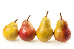 Row of pears Stock Photography