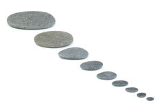 Row pebbles Stock Images