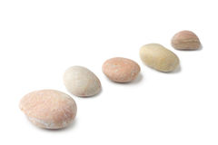 Row of pebbles Royalty Free Stock Photo