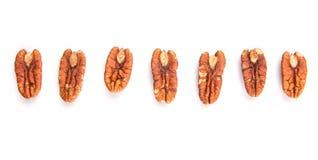 A Row Of Pecan Nut III Royalty Free Stock Photos