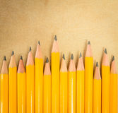 Row pencil Stock Photo