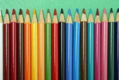 Row of Pencil Crayons Royalty Free Stock Images