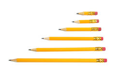 Row of Pencils Royalty Free Stock Photography