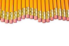 Row of pencils Royalty Free Stock Images