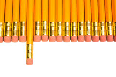 Row of pencils Stock Photography