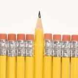 Row of pencils. royalty free stock photo