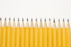 Row of pencils. Royalty Free Stock Images