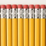 Row of pencils. Stock Photo