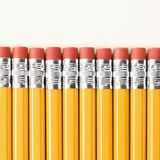 Row of pencils. Stock Image