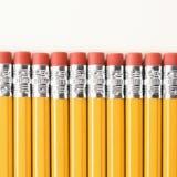 Row of pencils. Stock Image