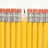 Row of pencils. Royalty Free Stock Image