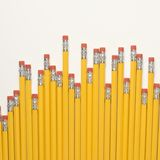 Row of pencils. Royalty Free Stock Photos