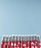 Row of Pencils Stock Photo