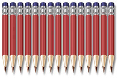 Row of Pencils Design Stock Image