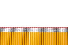 Row of Pencils isolated on white Royalty Free Stock Photos