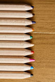 Row of pencils Stock Photos