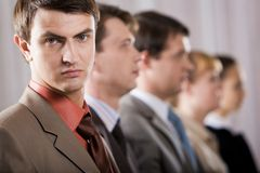 Row of people Royalty Free Stock Images