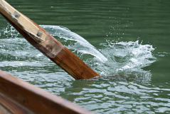 Row. A person is slowly rowing Stock Images