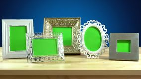 Photo frames in elegant interiors display. Royalty Free Stock Photography