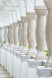 Row of pillars . Repeating row of colonnade pillars Royalty Free Stock Images